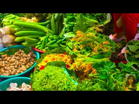 Asian Street Food, Cambodian Country Food Selling In The Market, Foods In Asian Countries