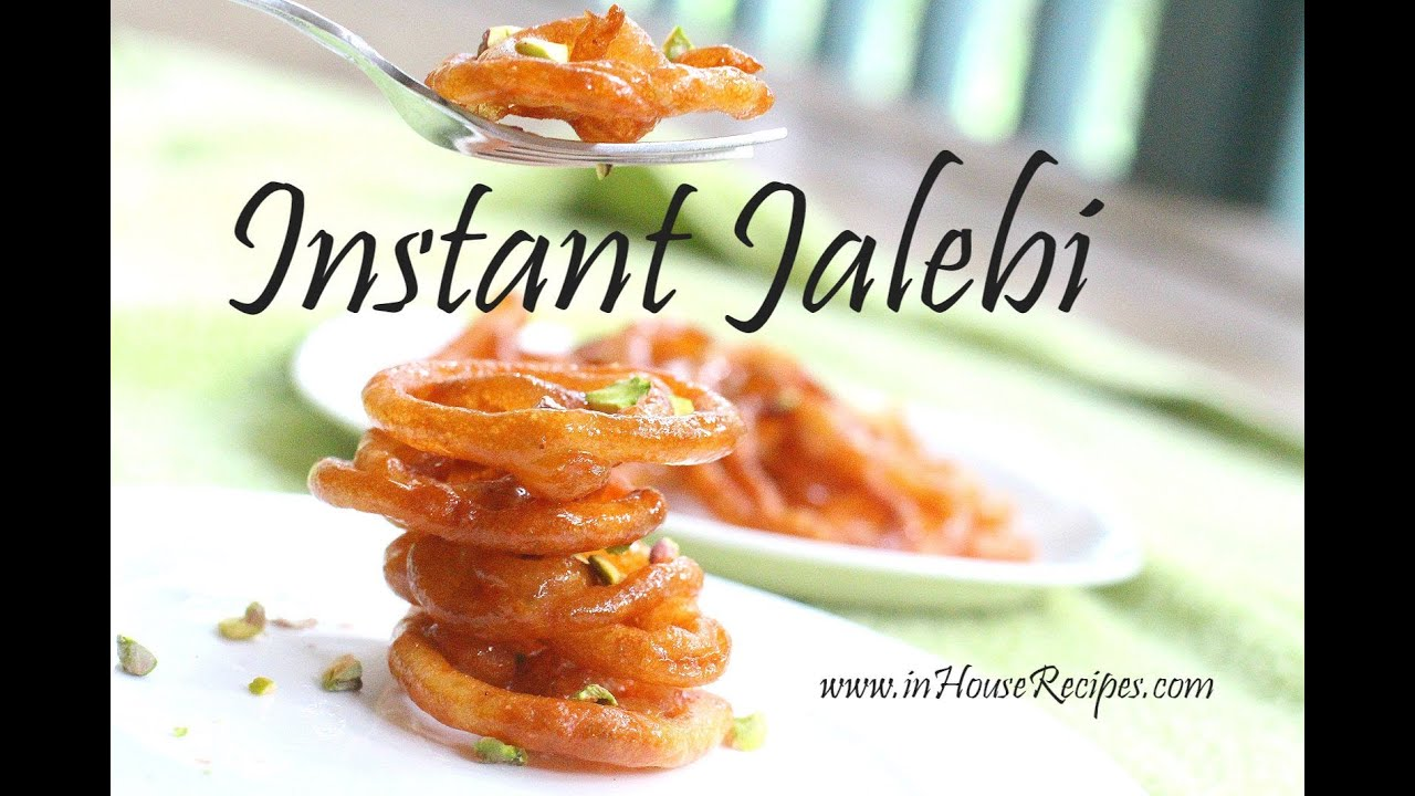 Instant Jalebi Recipe Hindi With English Subtitles Youtube