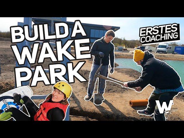 """Rental-Stuff, buddeln & Wand verkleiden """"WAKEBOARDEN LERNEN IN 3 MINUTEN!?"""" Vlog#35 Wakepark Fehmarn"""