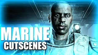 MARINE All Cutscenes - Aliens vs Predator AVP 2010 PC XBox360 Playstation 3 PS3