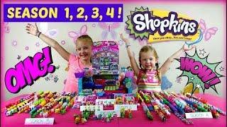 SHOPKINS SEASON 1 2 3 4 - BABY ALIVE GOES SHOPPING FOR SHOPKINS !