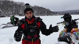 снегоходы поездка в Саратов аномально много снега