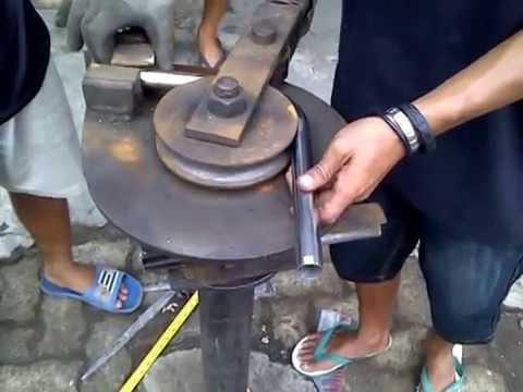 cara buat roll pipa stainless,bending