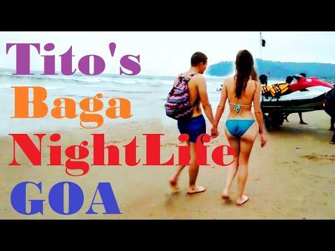 Baga Beach   Baga Night Life   Tito's Lane at night