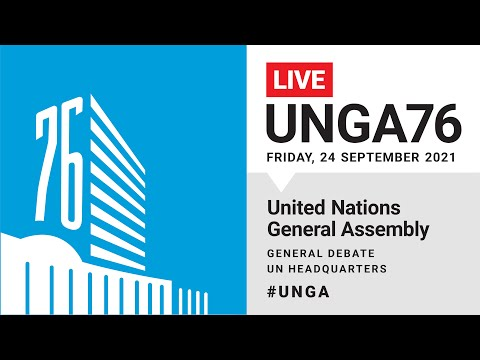 #UNGA76 General Debate Live (Greece, Pakistan, Palestine & More) - 24 September 2021