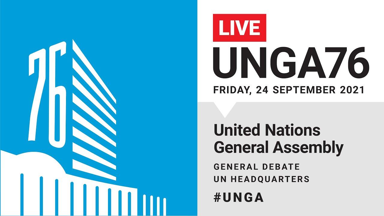 Download #UNGA76 General Debate Live - 24 September 2021