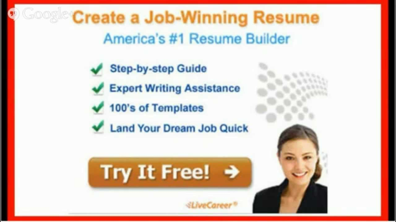 LiveCareer.Com Resume Builder Review   YouTube  Livecareer Resume Builder