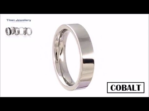 Men's 5mm Polished Flat Cobalt Wedding Ring