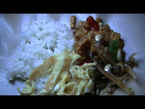 Jakarta Street Food 758  Fried Anchovy Tempeh Omelette Rice Angkringan Nina BR TiVi 5325