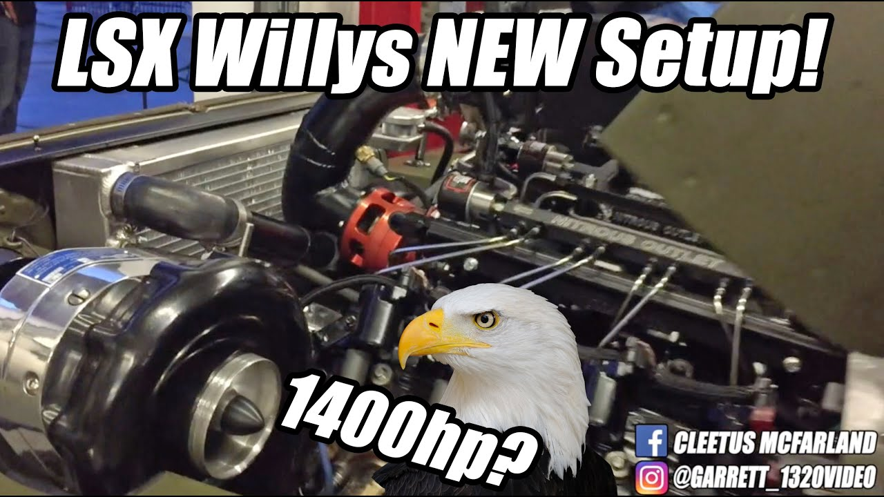 LSX Willys' NEW 1400+hp Setup! Start-up and REVS!