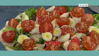 Салат с морепродуктами. Короткий рецепт