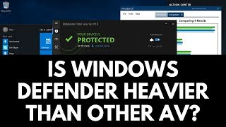 Is Windows Defender actually heavier than other Antivirus?