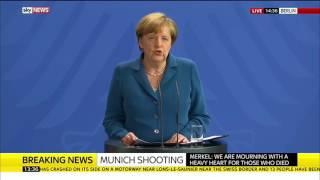 German Chancellor Angela Merkel Makes Munich Statement