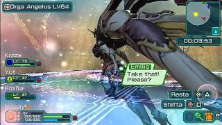 Phantasy Star Portable 2] Ch10 Final Boss, Orga Spritos and Orga Angelus