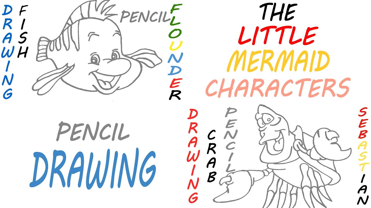 How to Draw The Little Mermaid Characters Easy: SEBASTIAN ...  How to Draw The...