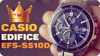 Обзор Casio Edifice EFS-S510D-2A. Японские мужские наручные часы с хронографом.