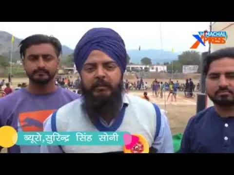 Shaheed shivsingh sports club organise first kabaddi tournament in palli