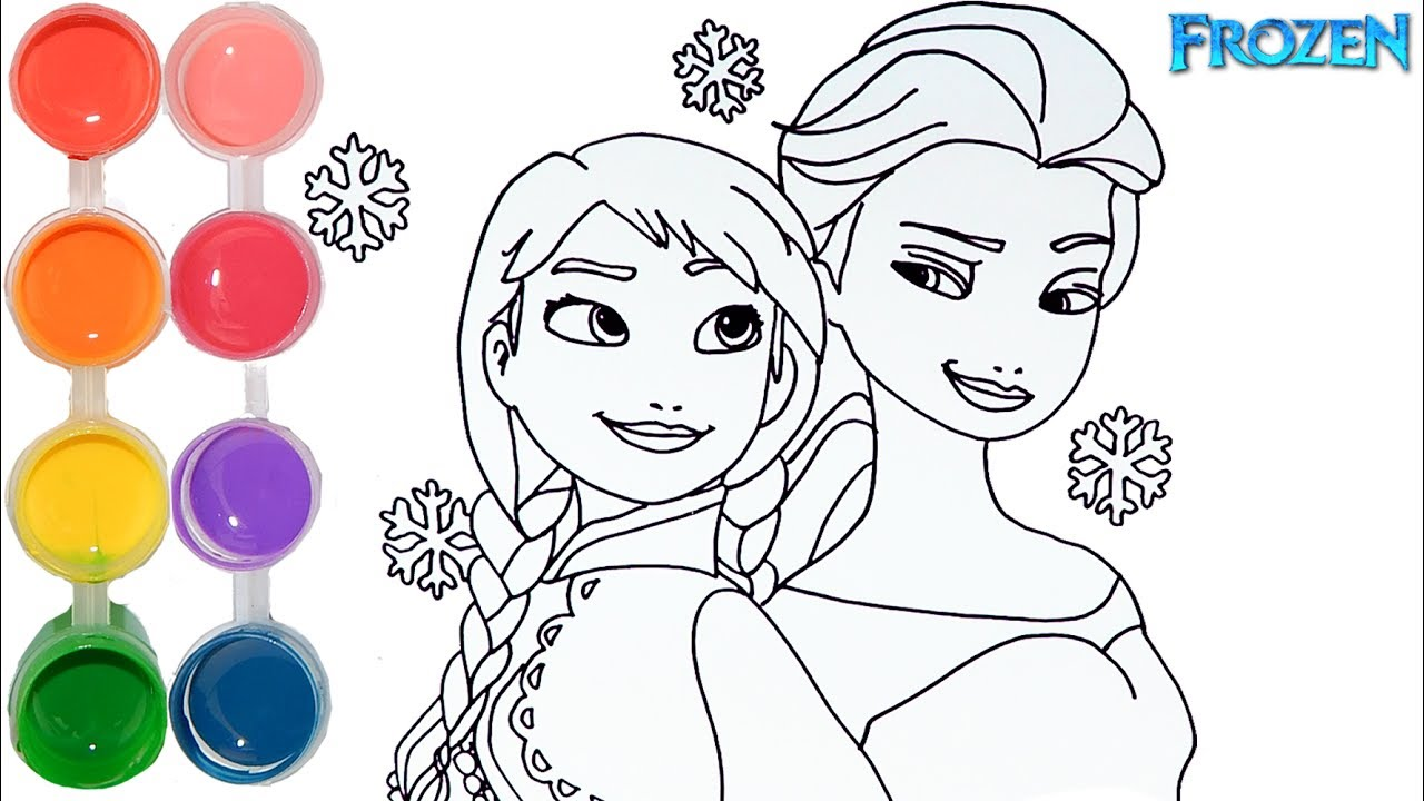 How To Draw Color Frozen Elsa Ana Drawing On New Learning