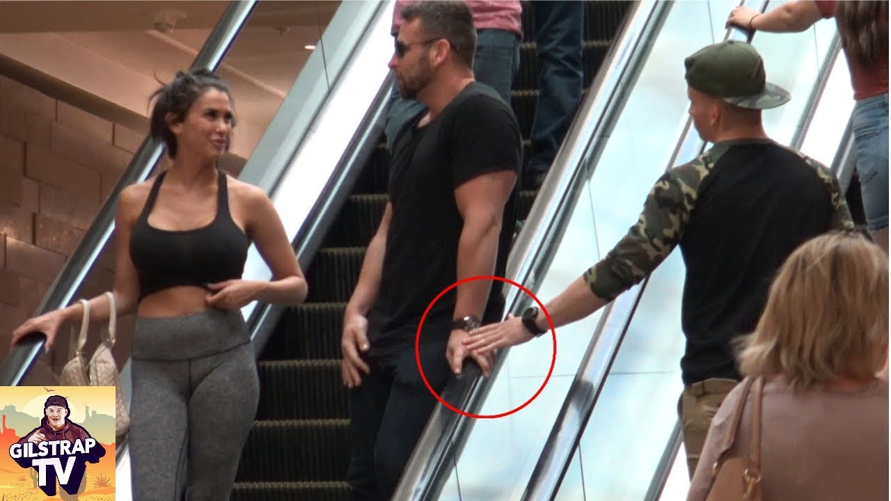Touching Hands On The Escalator Prank