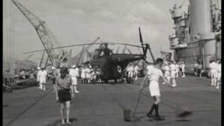Malaysia. Troops, helicopters in Johor, 1952