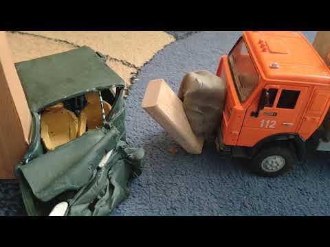 Краш-тест машины из пластилина 3 | ваз 2114