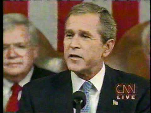 9/20/01 News Coverage: Bush Addresses a Joint Session of Congress part 1