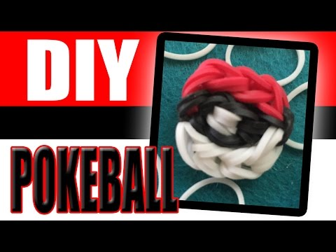 Pokemon Go | How to Make the Pokeball Using Loom Bands DIY Craft