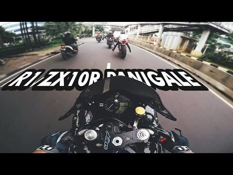 Yamaha R1, Ducati Panigale 1199S, Kawasaki ZX10R Ride to Binus Campus Jakarta