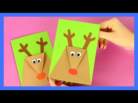 Reindeer Christmas Card - simple Christmas craft for kids