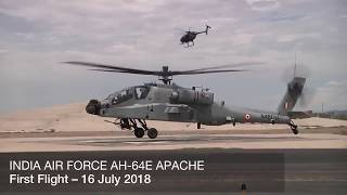 First Indian Air Force Boeing AH 64E Apache Attack Helicopter Makes Maiden Flight