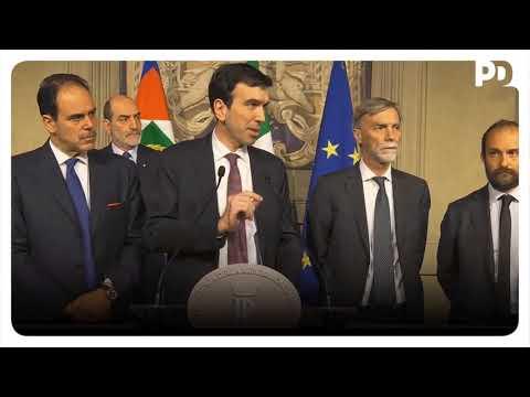 La delegazione del PD all'uscita dalle Consultazioni al Quirinale