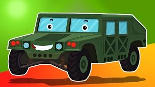 陆军锤形成和用途| 车辆的孩子| 儿童卡通| 教育视频 | Vehicles For Kids | Cartoon Vehicles | Army Hummer Formation and Uses