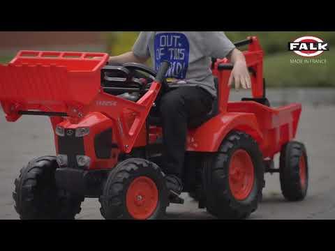 Трактор-экскаватор педальный с прицепом Kubota M135GX FALK 2090Z