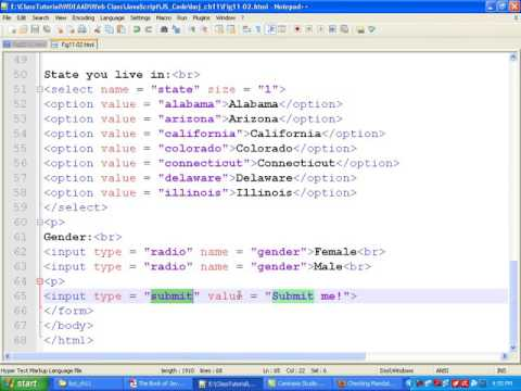 Javascript Bangla Tutorial::Ch11: How to validate Form (Combobox,Radio Button and Textbox)- Part 3