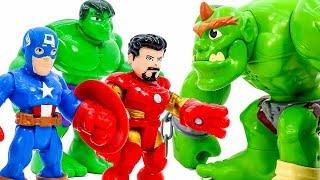 Диво Колекція Іграшок~ Месники Іграшки Перетворюються В Меч Поразки Броні Монстра #Toymarvel