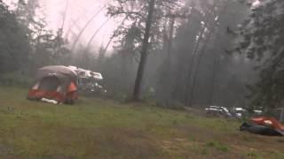 Huge storm rolls into campsite