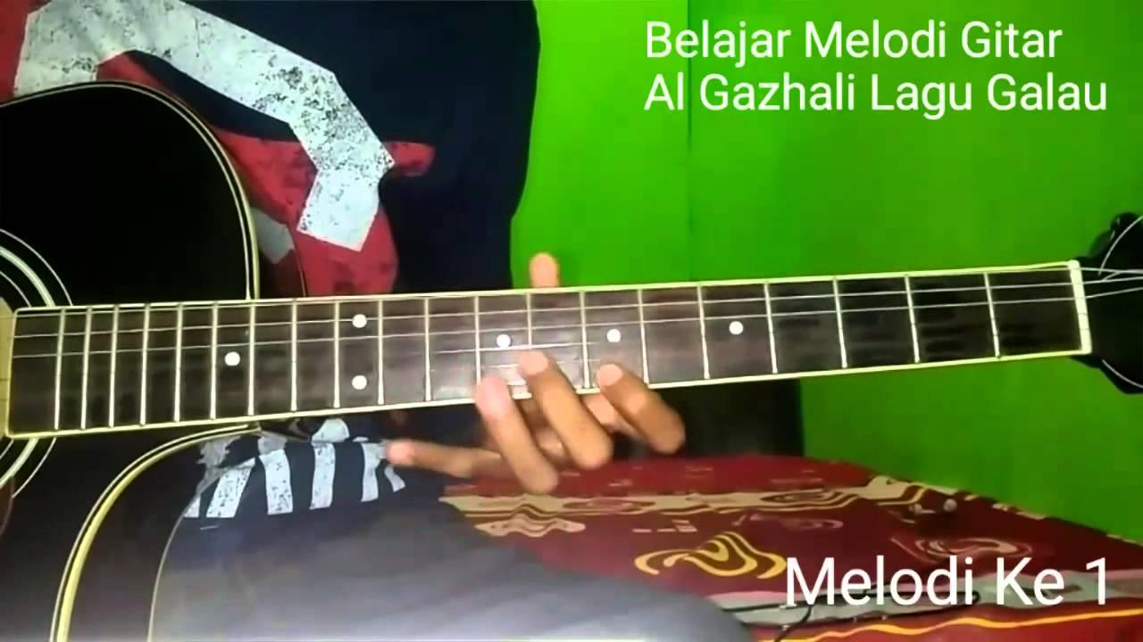 Belajar Melodi Gitar Al Ghazali Lagu Galau (Ost Anak