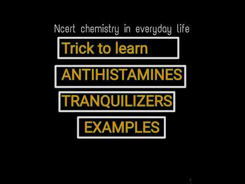 Antihistamines, Tranquilizers example trick ||Chemistry in everyday life  ||NEET /AIIMS || Danish