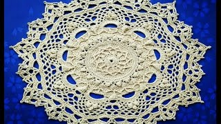 "МК салфетка ""Эмили"" 11-12 ряды How to crochet a doily ""Emily"" 11-12 rows"