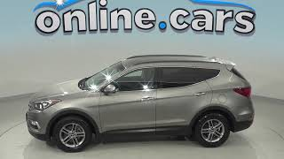 C98990NC Used 2018 Hyundai Santa Fe Sport SUV AWD Gray Test Drive, Review, For Sale