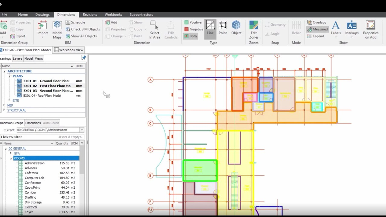 Itwo Costx Estimating Software 2d Measurement Training Video Youtube