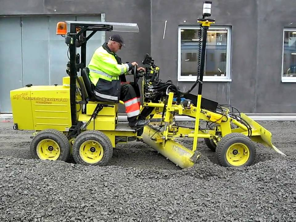 Laser Grader With Trimble 3d Youtube