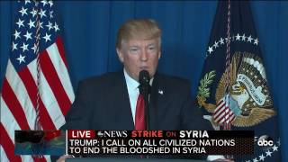 President Trump statement on U.S. missile strike on Syria