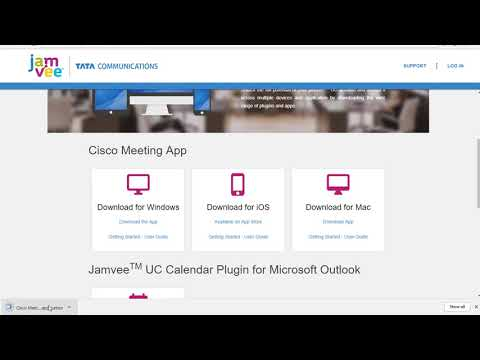Setting up your Cisco Meeting App