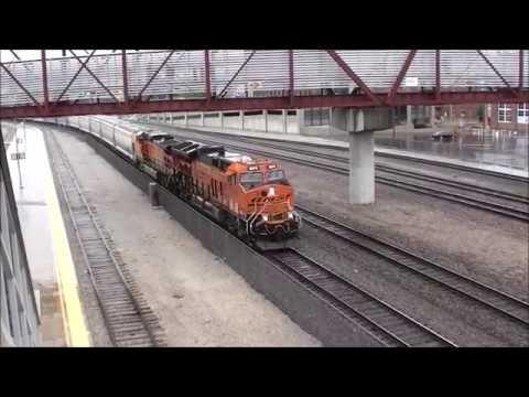 BNSF EB Mixed Freight meets UP WB 1x1 Mixed Freight. Kansas City, MO 8/5/17
