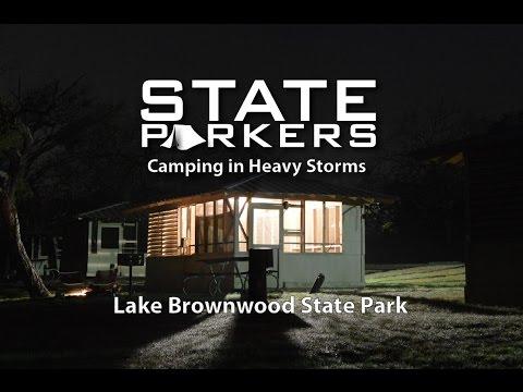 Storm Camping At Lake Brownwood State Park