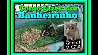 Como fazer um banheirinho para gerbil ou hamster com garrafa pet