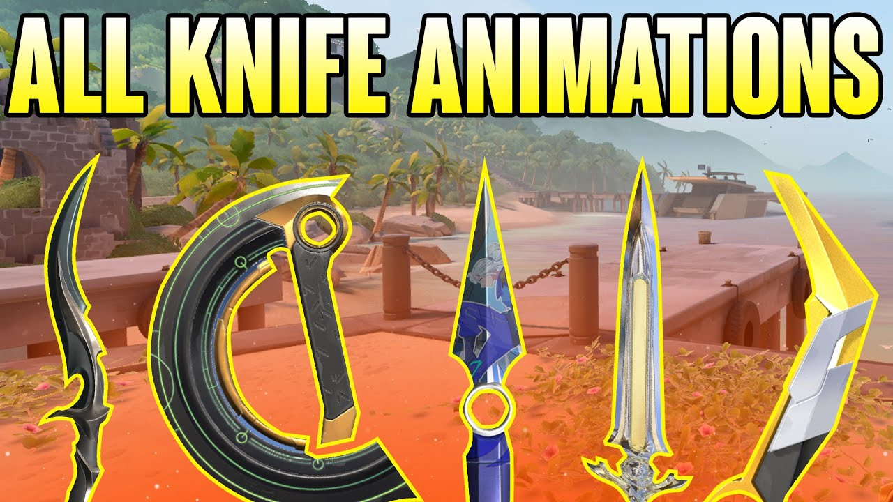 ALL KNIFE SKINS + ANIMATIONS *UPDATED* - VALORANT KNIFE SKINS