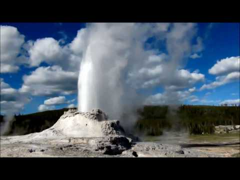 Special! Castle Geyser Eruption. Yellowstone National Park