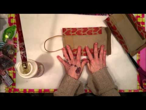 Tutorial: How To Turn A Gift Bag Into A Journal